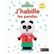 9782092557471 - Nathan Comme Un Grand - Livre puzzle- J'habille les pandas