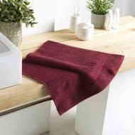 3574388009971 - Douceur D Interieur - Serviette de toilette Eponge Bourgogne