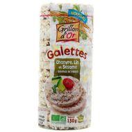 3421557904172 - Grillon Or - Galettes chanvre, lin et sésame