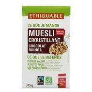 Ethiquable - Muesli croustillant chocolat noir, quinoa, noix de cajou bio