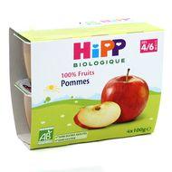 4062300126572 - Hipp - Coupelles Pommes bio, dès 4/6 mois