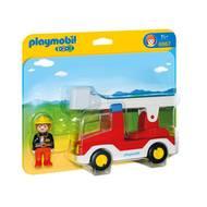 4008789069672 - PLAYMOBIL® 1.2.3 - Camion de pompier avec échelle pivotante