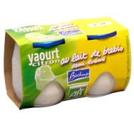 Yaourt bio citron au lait de brebis