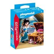 4008789090874 - PLAYMOBIL® Spécial Plus - Flibustière avec trésor