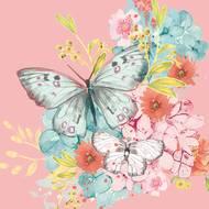 4021766211574 - Paperproducts Design - Serviettes papier papillons 33x33cm