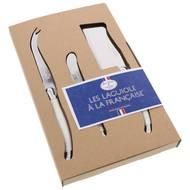 3219337769574 - Laguiole - Set 3 pièces fromage Blanc