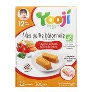 3760234501175 - Yooji - Mes petits Bâtonnets Bio- Légumes du soleil, touche de chèvre dès 12 mois