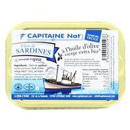 3522920001976 - Capitaine Nat - Filets de sardines à l'huile olive vierge extra bio