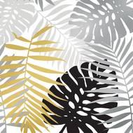 3701168912576 - Mesa Bella - Serviettes en papier Amazone or, noir 33 x 33 cm
