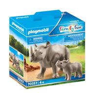 4008789703576 - PLAYMOBIL® Family Fun - Rhinocéros et son petit