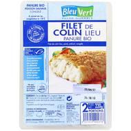 3551610005376 - Bleu Vert - Filets de colin-lieu MSC panure bio x2