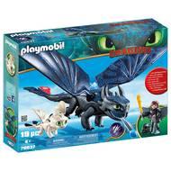 4008789700377 - PLAYMOBIL® Dragons - Krokmou et Harold avec bébé dragon