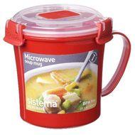 9414202011077 - Sistema - Mug pour soupe rouge