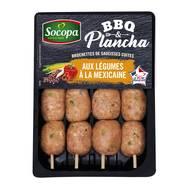3039050632777 - Socopa - 4 Mini Brochettes de saucisses aux légumes à la mexicaine