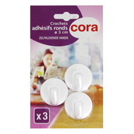 3257982135177 - Cora - Crochets adhésifs ronds