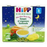 4062300185777 - Hipp - Soupe 6 Légumes Semoule bio dès 8 mois