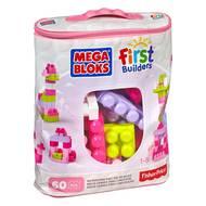 0065541084179 - Fisher-Price - Sac de briques medium rose Mega Bloks
