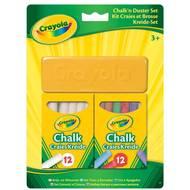 5010065982680 - Crayola - Kit craies blanches et couleurs et brosse