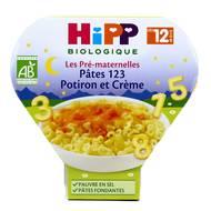4062300259980 - Hipp - Pâtes 123 Potiron et Crème assiette bio dès 12 mois