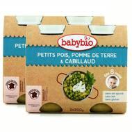 2050000312281 - Babybio - Petits pois, pommes de terre et cabillaud, dès 8 mois, bio