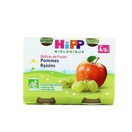 4062300055681 - Hipp - Pommes raisins bio, dès 4 mois