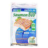 3551610007981 - Bleu Vert -  Haché de saumon bio