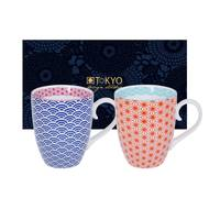 8719323538481 - Tokyo Design - Set 2 mugs Star/Wave Blue/Red
