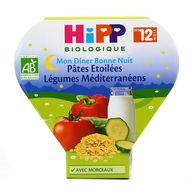 4062300163782 - Hipp - Bonne Nuit Pâtes étoilées Légumes Méditerranéens Bio dès 12 mois
