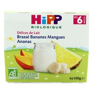 4062300224582 - Hipp - Brassé Bananes Mangues Ananas bio dès 6 mois