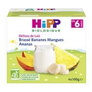 4062300224582 - Hipp - Délices de Lait - Brassé Bananes Mangues Ananas bio, dès 6 mois
