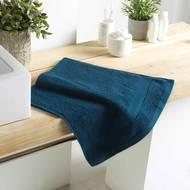 3574388010083 - Douceur D Interieur - Serviette de toilette Eponge Bleu Nuit