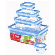 4009049303383 - Emsa - Lot de 5 boites clip & close perfect sans bisphénol A