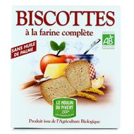 3268350120084 - Le Moulin Du Pivert - Biscottes bio à la farine complète