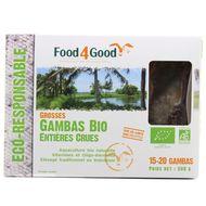 3426434000084 - Food4Good - Grosses gambas entières crues Bio calibre 20/30