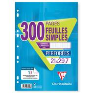 Clairefontaine - Feuilles mobiles 21 x 29,7 cm grands carreaux