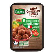 3039050350985 - Socopa - 18 Mini boulettes au boeuf à l'italienne