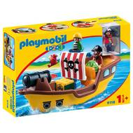 4008789091185 - PLAYMOBIL® 1.2.3 - Bâteau de pirates