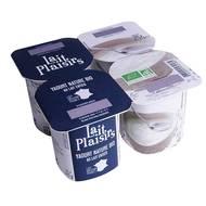 3760099532185 - Lait Plaisirs - Yaourt Bio Nature au lait Entier