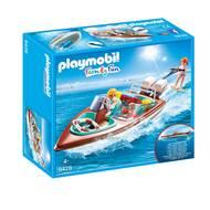 4008789094285 - PLAYMOBIL® Family Fun - Vacanciers avec vedette et moteur submersible