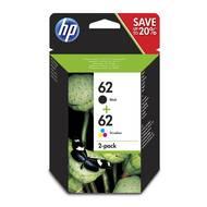 0889894419385 - Hewlett packard - Cartouches d'encre multipack noire et couleurs 62