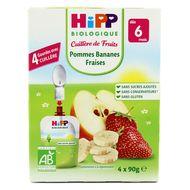 4062300220386 - Hipp - Gourde Pommes Bananes Fraises bio dès 6 mois