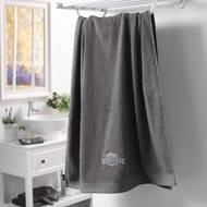 3574388008486 - Douceur D Interieur - Drap de bain brodé Vintage Anthracite