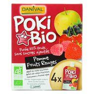 3431590012987 - Danival - Poki bio Purée pomme-fruits rouges