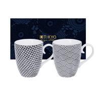 8719323533387 - Tokyo Design Studio - Coffret 2 Mugs Nippon Black Wave Raindrop