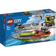 5702016617887 - LEGO® City - 60254- Le transport du bateau de course