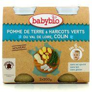 3288131510088 - Babybio - Pomme de terre, haricots verts du Val de Loire et colin bio, dès 6 mois