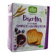 3268350120688 - Le Moulin Du Pivert - Biscottes bio à la farine complète et graines de lin