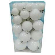 3602904443388 - Cora - Boite de 52 boules multi-tailles blanches nacrées