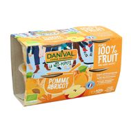 3431590013588 - Danival - Pomme abricot sans sucres ajoutés