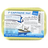 3522920004588 - Capitaine Nat - Thon albacore morceaux à l'huile d'olive bio